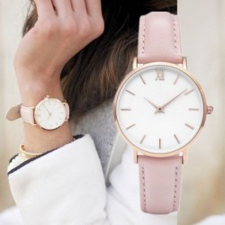 Casual  Leather  Watch Ladies