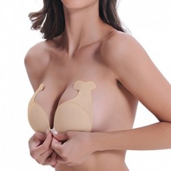 Sexy  Women Invisible Lift Up Nipple Cover Adhesive Strapless Backless Dolphin Bras Reusable Silicone Breast Stickers