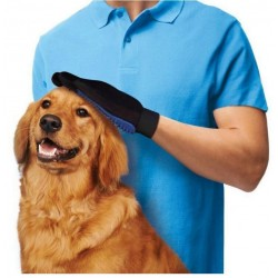 Pet Grooming Glove,2-in-1 Hair Remover Mitt Gentle Deshedding Brush and Massage Tool for Dog, Cat, Horses