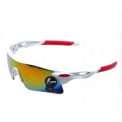 Men's Brand Sunglasses UV400 Mens Designer Glasses-White Red