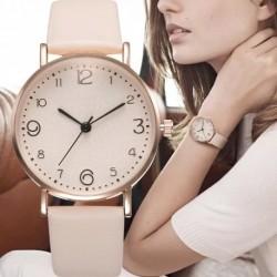 Top Fashion Style Luxury Ladies Leather Strap Analog Quartz Watch