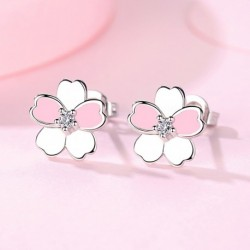 Sterling silver ladies stud earrings original jewelry for women