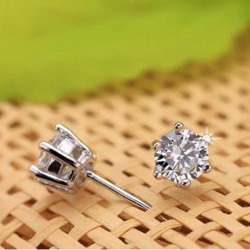 Sterling silver fashion  crystal female stud earrings