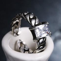 sterling silver silver fashion ladies`finger wedding rings
