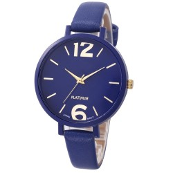 Ladies Faux Leather Analog Quartz Wrist Watch