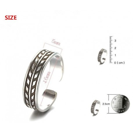 100% 925 sterling silver fashion thai silver retro style ladies finger rings jewelry female no fade open party ring