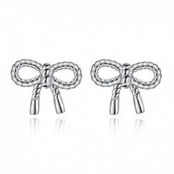 100% 925 sterling silver fashion bowknot ladies stud earrings female jewelry women gift drop shipping cheap wholesale girl