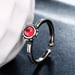 Hot sell fashion red crystal vintage thai silver female 925