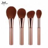 ANMOR 4 Pcs Makeup Brushes Set Powder Blush Blending Highlighter Contour Facial Make Up Brush Top Quality Pincel Maquiagem
