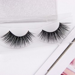 Anmor 3D Real Mink Makeup Natural Thick False Eyelashes With Glitter Packing 100% Handmade Eye Fake Lashes