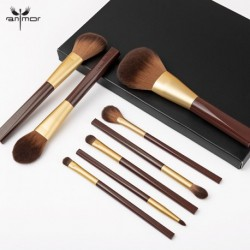 ANMOR 8Pcs Makeup Brushes Set Powder Blush Foundation Eyeshadow Eyebrow Make Up Brush Cosmetics Tools Kit Pinceaux Maquillage
