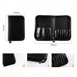New Anmor Professional Makeup Brushes Bag For Brush Collection High Quality Protect Case Holder Pouch Black PU Leather Only