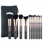 Anmor 12PCS Makeup Brushes Set With Bag Professional Make Up Brush For Foundation Eyeshadow Blush Eyebrow Cosmetics Tool Kit