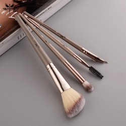 Anmor 4Pcs Contour Makeup Brush Set For Eye Make Up Brushes For Powder Highlighter Eyeliner Eyeshadow Blending Cosmetic Tool Kit