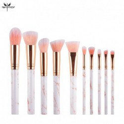 Anmor 10Pcs Makeup Brushes Marble Make Up Brush Foundation Set Eyeshadow Powder Professional Cosmetic Tools Brochas Maquillaje