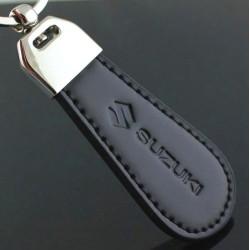 Black Leather Suzuki Car Logo Key chain