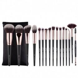 Anmor 16Pcs Makeup Brushes Set With Bag Professional Eyeshadow Foundation Blush Powder Eyeliner Eyelash Lip Make Up Brush