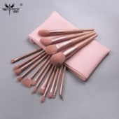 ANMOR 16Pcs Professional Makeup Brushes Set With Bag For Eyeshadow Foundation Blush Powder Eyeliner Eyelash Lip Make Up Brush