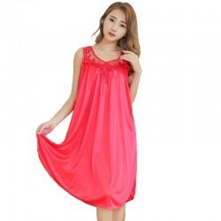 Ice silk charming fashion night dress pajama