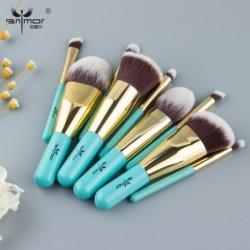 Anmor 9PCS Make Up Brushes Travel Friendly Brand Brushes Set