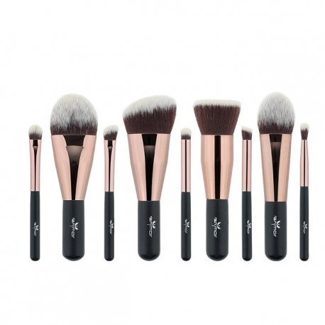 Anmor 9PCS Mini Soft Makeup Brushes Set Kit Portable Kabuki