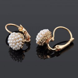 Charming Elegant Simulation Pearl Beads Stud Earrings