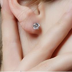 New Design Rhinestone Crystal Silver Stud Earrings