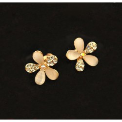 Luxurious Fresh Opal Gem Flower earring