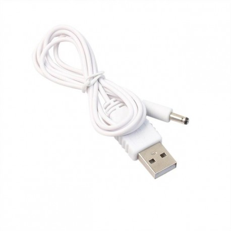 Wholesale PC Adapter plug - ins DC 3.5mm x1.35mm Barrel Jack Cables 100CM Female to USB Type A Male Adapter Power Cable White