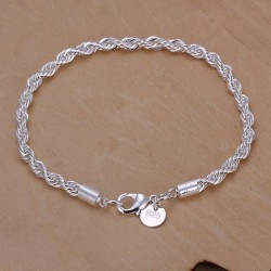 Silver plated jewelry bracelet