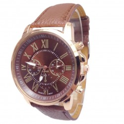 Fashion Women Stylish Faux Leather Analog Quartz watch