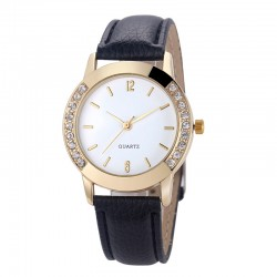 Women Diamond Analog Leather Quartz Wrist Watch