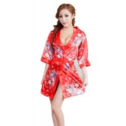 Japanese kimono three piece sexy sleepwear