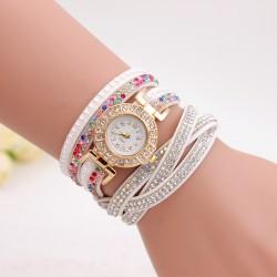 Fashion Women's Stainless Steel Bling Rhinestone Bracelet Wrist Watch