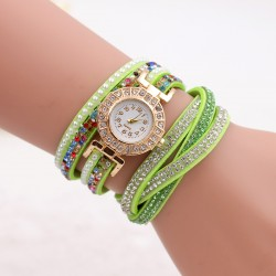Fashion Women's Stainless Steel Bling Rhinestone Bracelet Wrist Watch