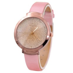 Brand design high quality leather fashion wrist watch for women