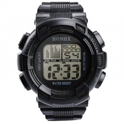 Mens LED Digital Waterproof Sports Army Watch