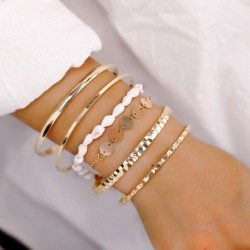 Modyle 2019 Fashion Women's Bracelet Set 6Pcs/Lot High Quality Charm Beads Bracelet Jewelry For Ladies