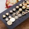 Modyle 14pairs Earrings Mixed Styles Rhinestone Sun Flower Geometric Animal Plastic Stud Earrings Set For Women Girls Jewelry