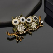 Modyle Cute Animal Cat Owl Butterfly Brooch For Women Europe America Fashion Wedding Jewelry Stones Crystal Brooch Pins
