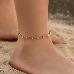 Modyle Summer Bohemian Silver Gold Anklets Chain for Women Sequins Anklet Leg Bracelet Bijou Foot Jewelry