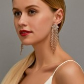 Modyle New Retro Gold Silver Color Long Hanging Earrings For Women Metal Tassel Ethnic Drop Earrings Hip Hop Jewelry Accessories