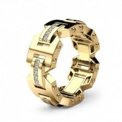 Modyle Male Big Zircon Stone Ring Fashion 925 Silver/Rose Gold