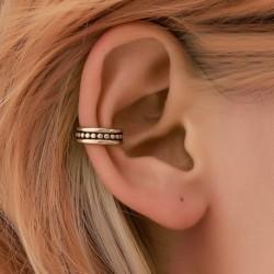 Modyle Simple U-shaped Ear Cuff Rose Gold Earrings for Women