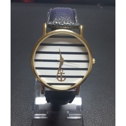 Striped Anchor Dial Sports New Women Mens Watches