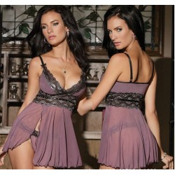 Women Sexy Lingerie : Mesh Babydoll Nightwear Dress