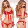 Sexy Women Bow Soutine Gorge Red Comfort Lingerie
