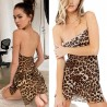 Leopard Print Women Sexy Night dress