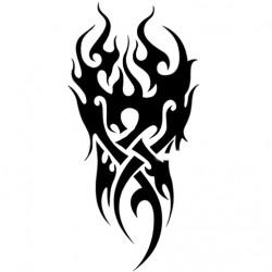 Black Flower Arm Tattoo