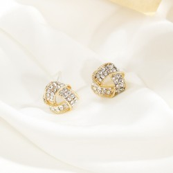 Korean fashion Woven Triangle Hollow Earrings
